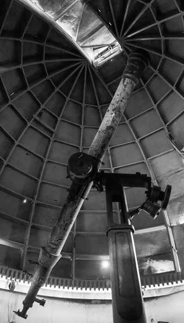 Este es el viejo telescopio que se mantiene en el primer Observatorio Astronómico Nacional. Foto: Gregorio Portilla
