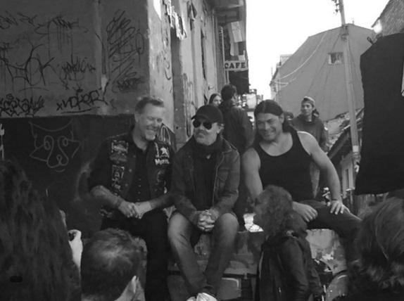 "Con Metallica de ""paseo"" por el centro de Bogotá"