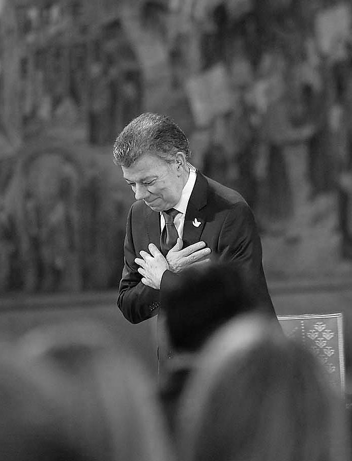 Palabras de Juan Manuel Santos al recibir el Premio Nobel de Paz