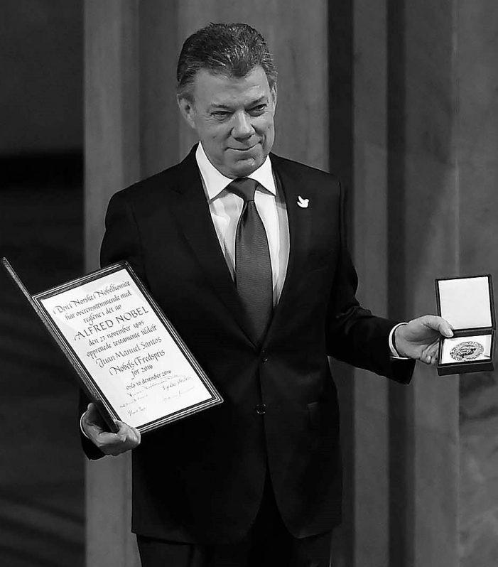 El Presidente Santos recibe el Premio Nobel de la Paz