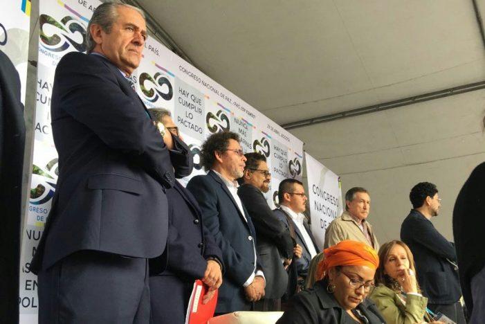 Congreso Nacional de Paz sesionó en la Plaza de Bolívar