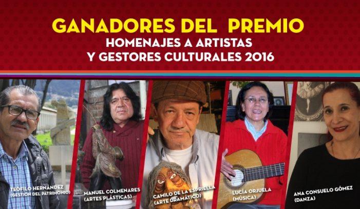 Distrito entregó el Premio 'Homenajes a Artistas y Gestores Culturales'