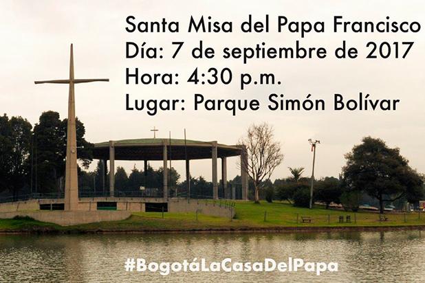 Parque Simón Bolívar de Bogotá cerrará dos horas antes de la misa del Papa Francisco