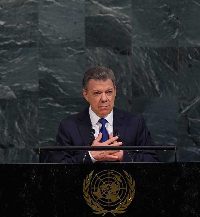 El Presidente Juan Manuel Santos ante la Asamblea General de la ONU