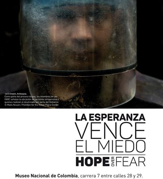 """Exposición """"La esperanza vence el miedo (Hope over Fear)"""" en Bogotá"""