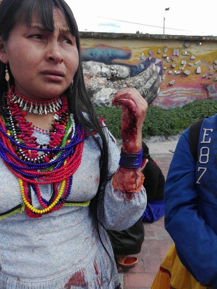 Policía maltrata comunidad de  indígenas Emberá en Bogotá