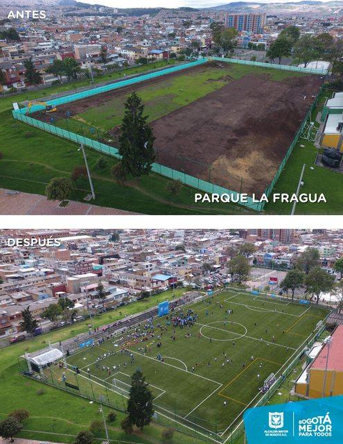Estado de las obras en parques de Bogotá