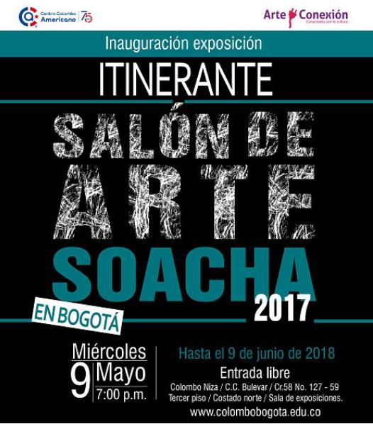 """Exposición """"Itinerante del Salón de Arte Soacha"""" en el Colombo Americano sede Niza"""