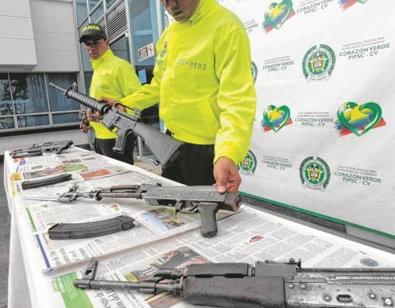 Cundinamarca, el departamento del país con más armas decomisadas