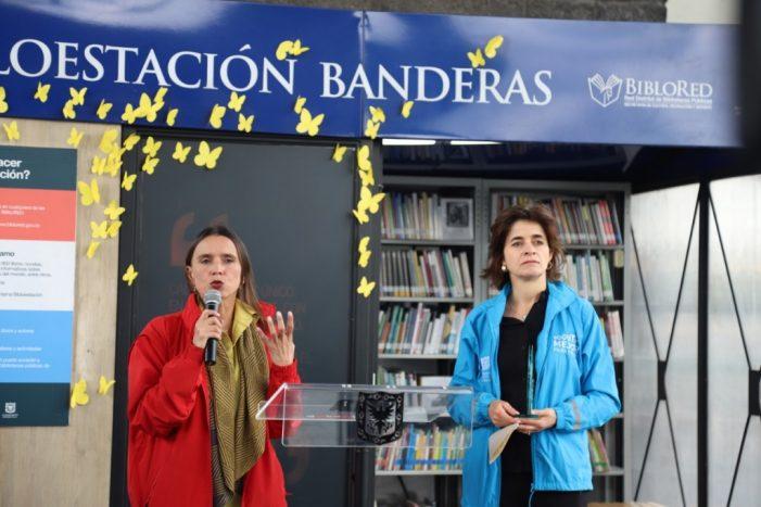 Inauguración Bibloestación Banderas