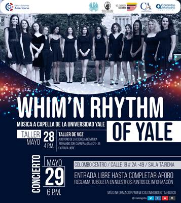 """Whim'n Rhythm"", el reconocido coro femenino de la Universidad Yale llega a Bogotá"