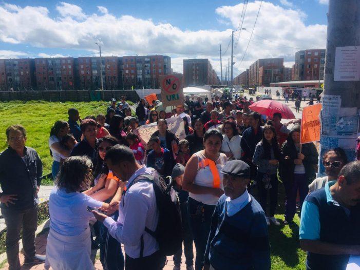 Protestas en la localidad de Bosa por construcción de centro penal en zona residencial