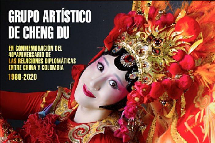 Grupo artístico de Cheng Du se presenta en el Tetaro Colón de Bogotá