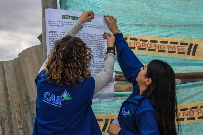 CAR ordena suspensión de actividades a escombrera ilegal en predios de la reserva Thomas van der Hammen