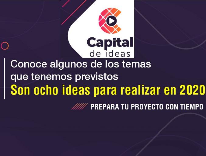 Capital de Ideas, abre convocatorias para el diseño y producción de contenidos de Cultura, Ciudadanía y Educación