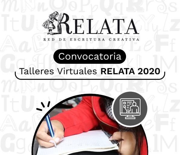 Convocatoria talleres literarios Relata 2020