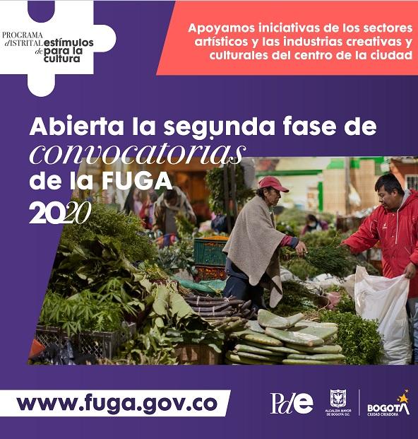 La FUGA abre segunda fase de convocatorias dirigidas a creadores y emprendedores del Centro de Bogotá