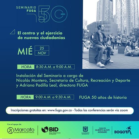 Seminario FUGA 50 años: dos días de encuentro en torno al centro de Bogotá y la revitalización cultural