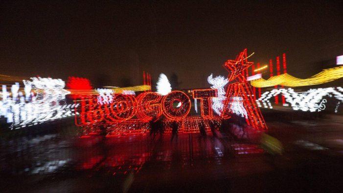 Bogotá brilla con 23 puntos con iluminación decembrina
