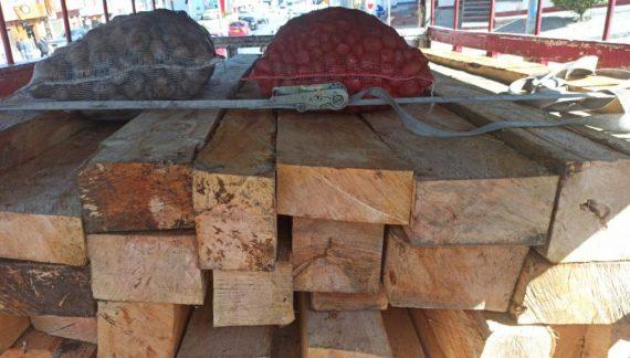 La CAR y la Policía detuvieron camión con madera ilegal en la vía Bogotá – La Calera