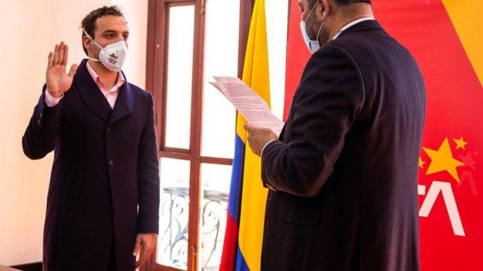 El secretario de Gobierno, Luis Ernesto Gómez, se posesionó como alcalde encargado de Bogotá