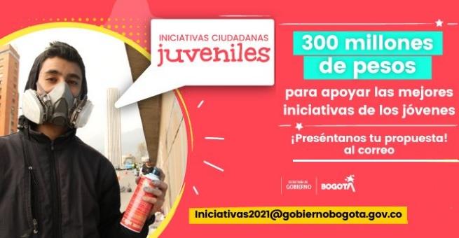 Hasta el 2 de febrero estará abierta convocatoria de la Secretaría de Gobierno para impulsar proyectos de jóvenes de Bogotá