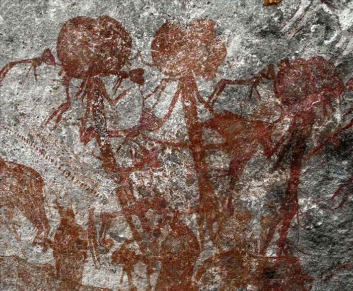 Amak'hee 4: un sitio de arte rupestre recientemente documentado en la reserva de caza Swaga Swaga