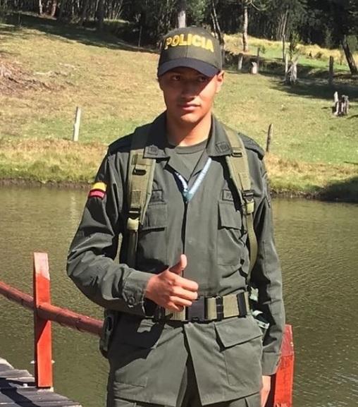 Asesinado en Bogotá joven patrullero de la Policía, Edwin Arnoldo Caro Gómez