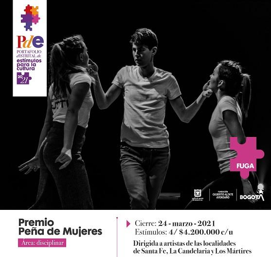 Participe en los premios Peña de Mujeres, Conciertos Universitarios y Beca las Artes Vivas de Gira en el Centro de Bogotá