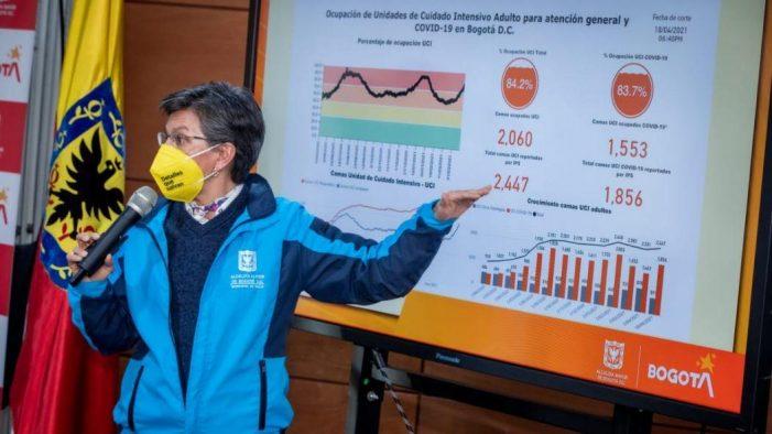 Decretan en Bogotá toque de queda nocturno desde las 8:00 p.m. y hasta las 4:00 a.m. del día siguiente