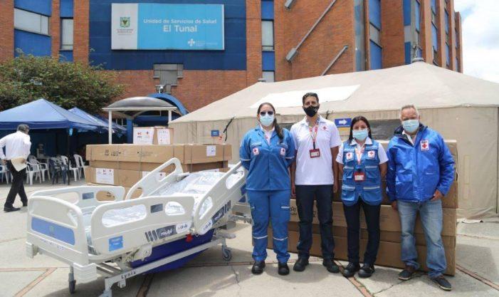 Bogotá recibe donación de equipos biomédicos para la atención de la pandemia de covid-19