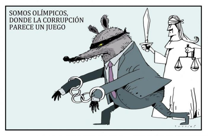 EL MUNDO DE TURCIOS: Somos olímpicos donde la corrupción parece un juego