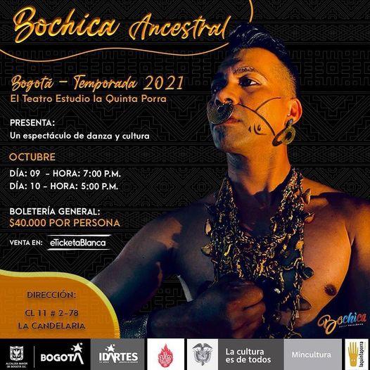 """Desde Medellín llega""""Bochica ancestral""""al Teatro Estudio Quinta Porra"""